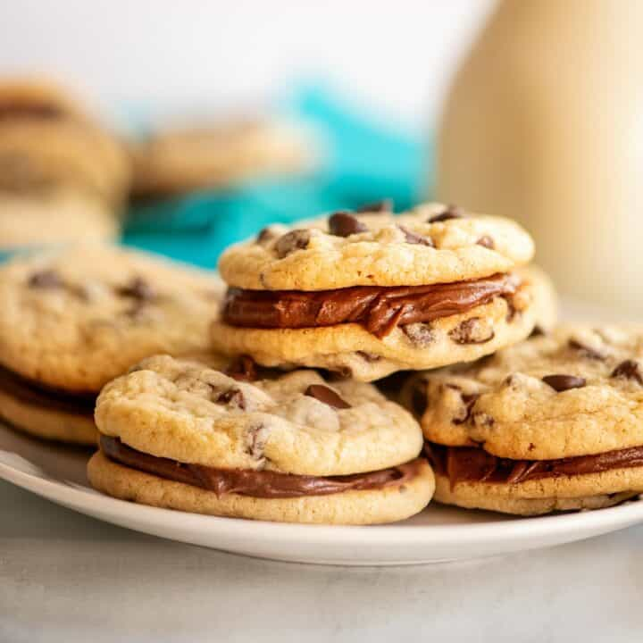 Rich chocolate frosting sandwiched between chewy cookies is a chocolate lover's dream. Try this recipe for Chocolate Chip Sandwich Cookies next time you need a dessert that's just as decadent as a chocolate cake but even easier to serve!