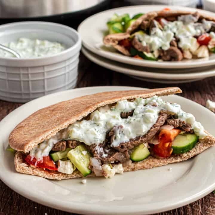Now you can make those tender beef pitas from your favorite Mediterranean restaurant at home! Instant Pot Gyros are flavored with herbs and drizzled with creamy yogurt sauce that everyone finds irresistible.