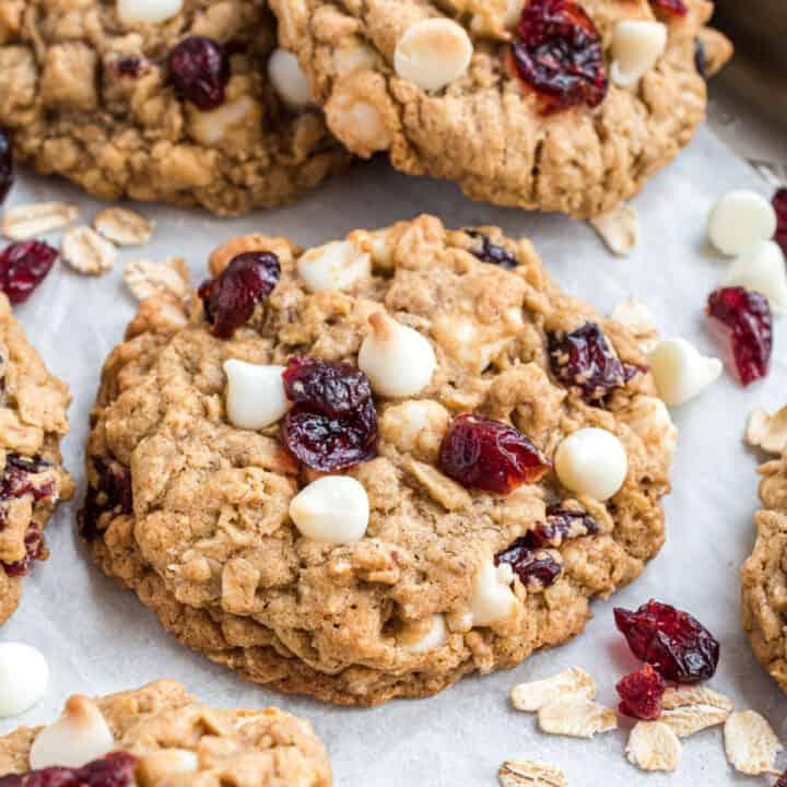 White Chocolate Oatmeal Cranberry Cookies Recipe