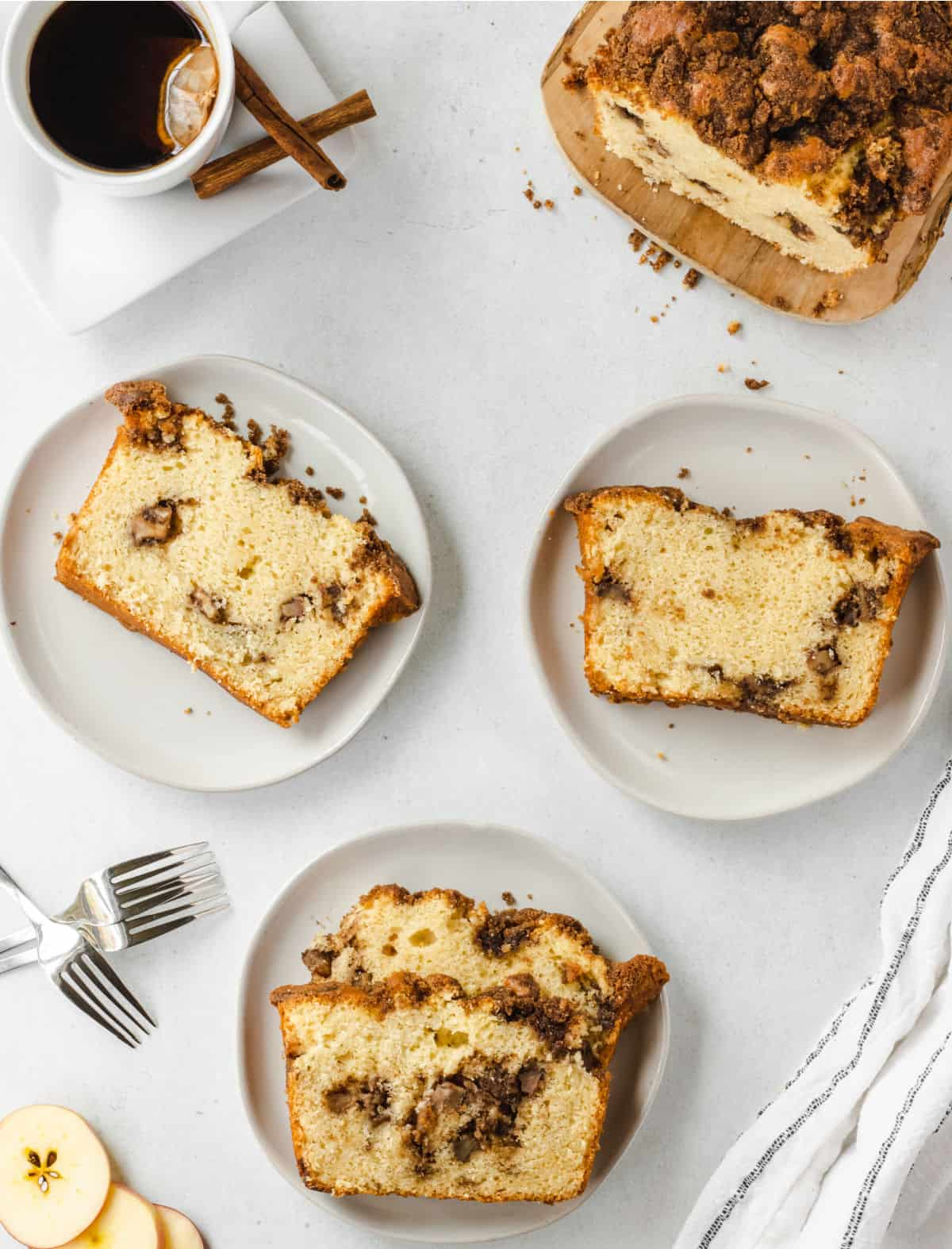 Chai spices and sweet apples baked into one delicious loaf! Chai Apple Bread is a moist, sweet and filled with real apple pieces. Bake up a loaf to fill your kitchen with a tantalizing aroma of classic fall flavors.
