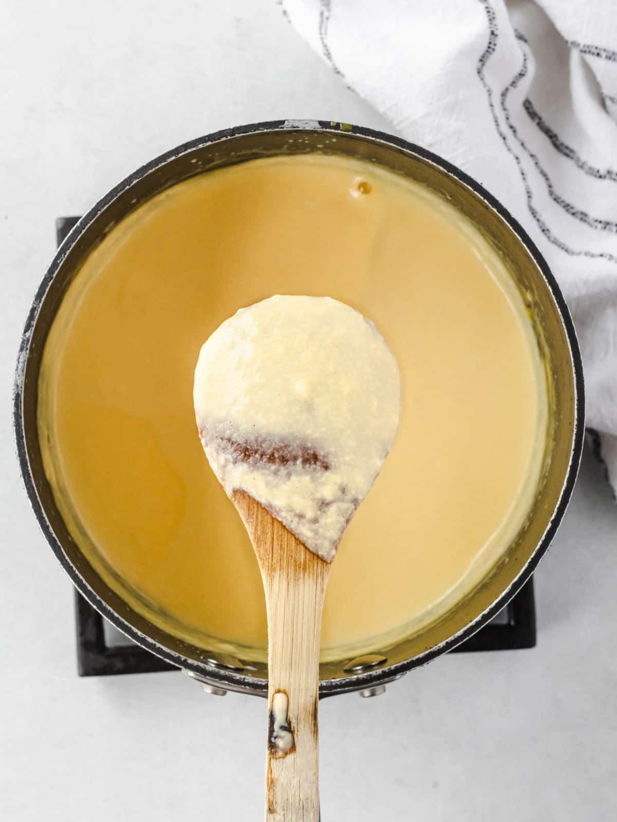 How to make vanilla creme anglaise.
